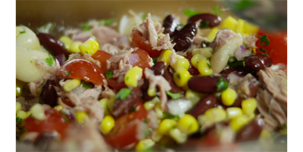 Tuna, Butter Bean and Kidney Bean Salad