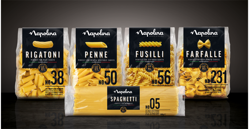 Find out more about the Napolina pasta range